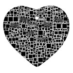 Block On Block, B&w Ornament (Heart)  Front