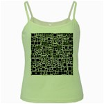Block On Block, B&w Green Spaghetti Tank Front