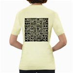 Block On Block, B&w Women s Yellow T-Shirt Back