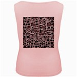 Block On Block, B&w Women s Pink Tank Top Back