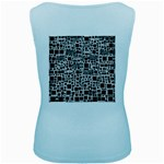 Block On Block, B&w Women s Baby Blue Tank Top Back