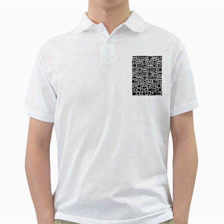 Block On Block, B&w Golf Shirts