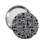 Block On Block, B&w 2.25  Handbag Mirrors Front