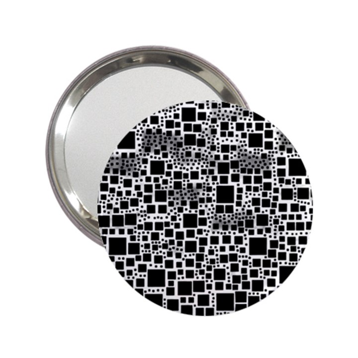 Block On Block, B&w 2.25  Handbag Mirrors