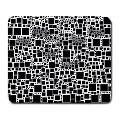 Block On Block, B&w Large Mousepads