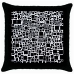 Block On Block, B&w Throw Pillow Case (Black) Front