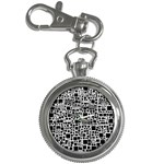 Block On Block, B&w Key Chain Watches Front