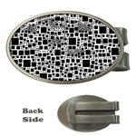 Block On Block, B&w Money Clips (Oval)  Front