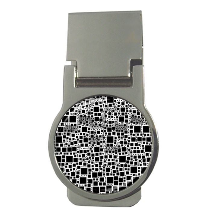Block On Block, B&w Money Clips (Round)