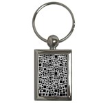 Block On Block, B&w Key Chains (Rectangle)  Front