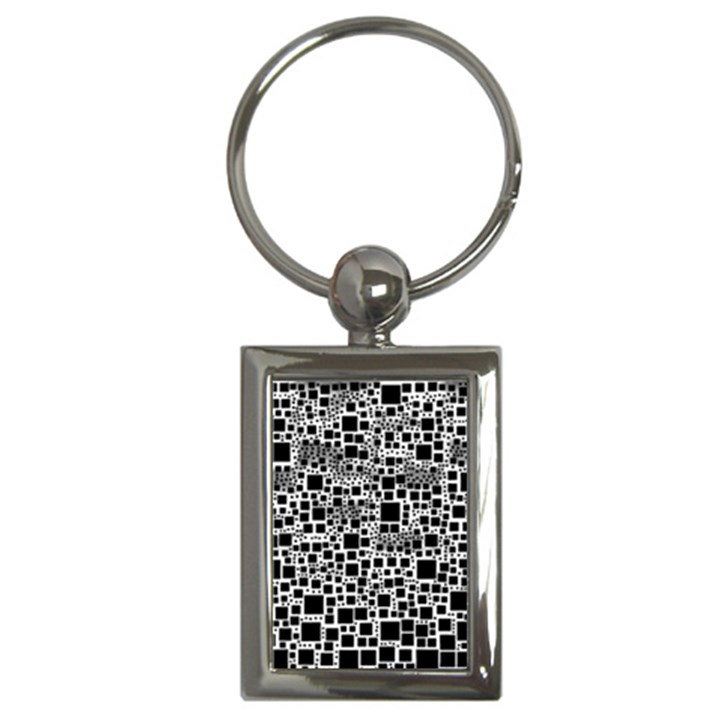 Block On Block, B&w Key Chains (Rectangle)