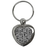 Block On Block, B&w Key Chains (Heart)  Front