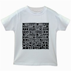 Block On Block, B&w Kids White T Shirts