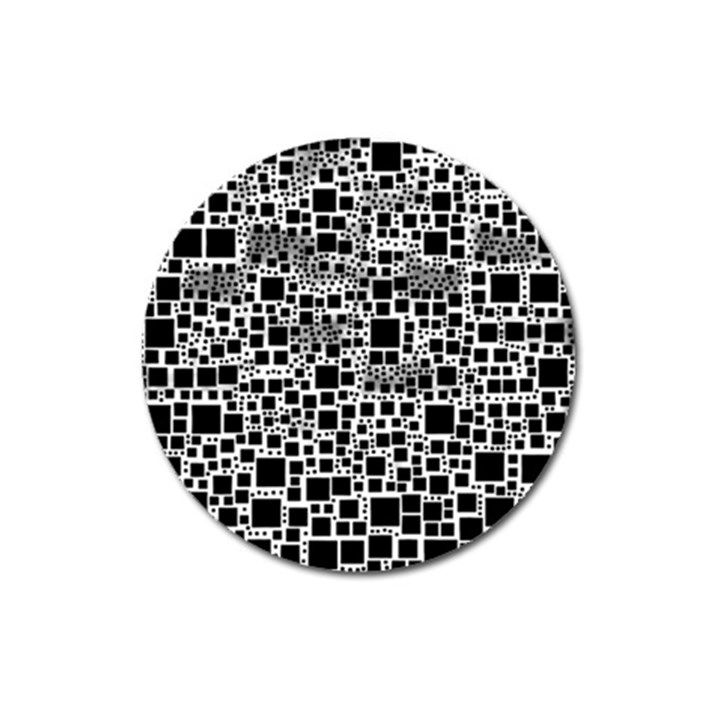 Block On Block, B&w Magnet 3  (Round)