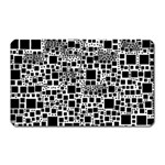 Block On Block, B&w Magnet (Rectangular) Front