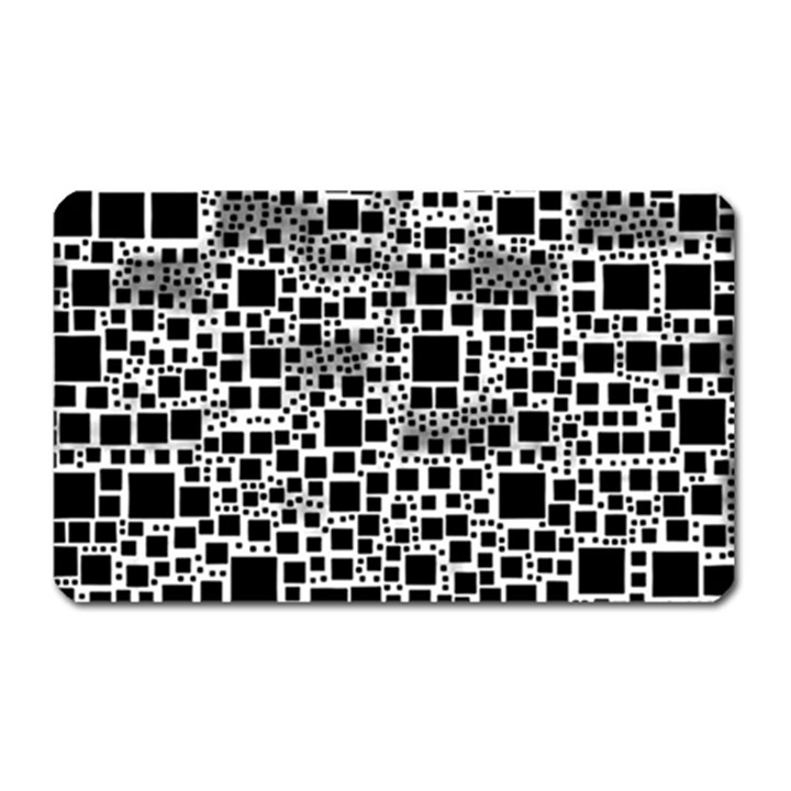 Block On Block, B&w Magnet (Rectangular)