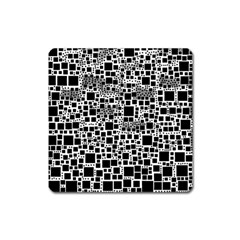 Block On Block, B&w Square Magnet