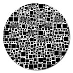 Block On Block, B&w Magnet 5  (Round) Front