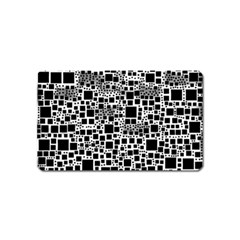 Block On Block, B&w Magnet (name Card)