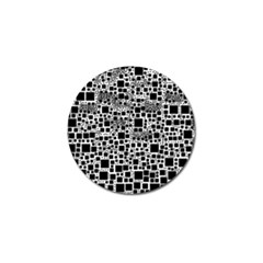 Block On Block, B&w Golf Ball Marker