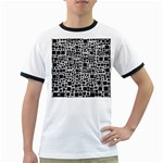 Block On Block, B&w Ringer T-Shirts Front