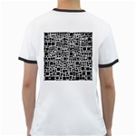 Block On Block, B&w Ringer T-Shirts Back