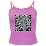 Block On Block, B&w Dark Spaghetti Tank Front