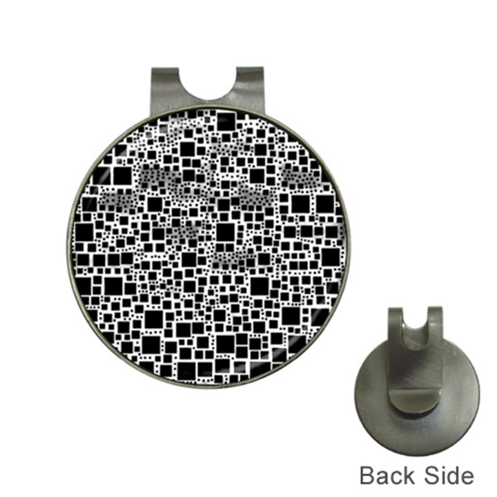 Block On Block, B&w Hat Clips with Golf Markers