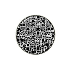 Block On Block, B&w Hat Clip Ball Marker (4 pack)