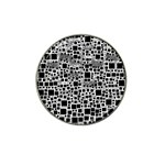 Block On Block, B&w Hat Clip Ball Marker (4 pack) Front