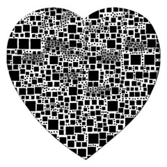 Block On Block, B&w Jigsaw Puzzle (Heart)