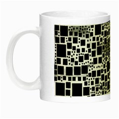 Block On Block, B&w Night Luminous Mugs