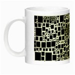 Block On Block, B&w Night Luminous Mugs Left