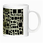 Block On Block, B&w Night Luminous Mugs Right