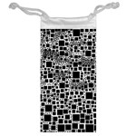 Block On Block, B&w Jewelry Bags Back