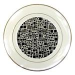 Block On Block, B&w Porcelain Plates Front