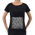 Block On Block, B&w Women s Loose-Fit T-Shirt (Black) Front