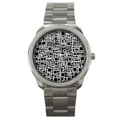 Block On Block, B&w Sport Metal Watch