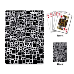 Block On Block, B&w Playing Card