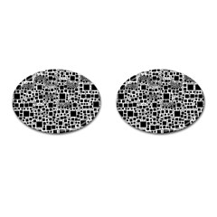 Block On Block, B&w Cufflinks (Oval)