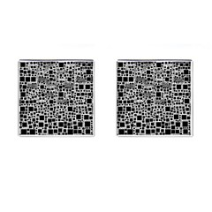 Block On Block, B&w Cufflinks (Square)
