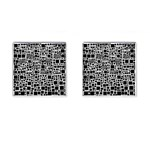 Block On Block, B&w Cufflinks (Square) Front