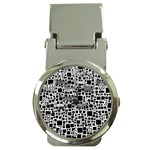 Block On Block, B&w Money Clip Watches Front