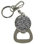 Block On Block, B&w Bottle Opener Key Chains Front