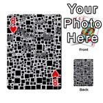 Block On Block, B&w Playing Cards 54 Designs  Front - Heart8