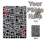 Block On Block, B&w Playing Cards 54 Designs  Front - HeartJ