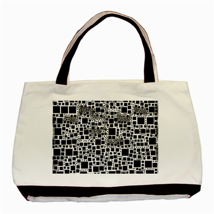 Block On Block, B&w Basic Tote Bag