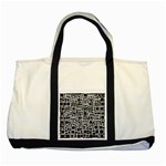 Block On Block, B&w Two Tone Tote Bag Front