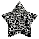 Block On Block, B&w Star Ornament (Two Sides)  Back
