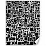 Block On Block, B&w Canvas 12  x 16   16 x12 Canvas - 1